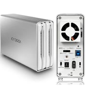 "Icy Dock® ICYRaid 3.5"" External SATA/USB 3.0 Tool-less HDD Enclosure, White (MB662U32SR1)"