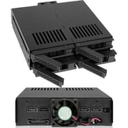 "Icy Dock® ExpressCage 2.5""/5.25"" Internal SATA/SAS HDD/SSD Mobile Rack Enclosure, Black (MB324SPB)"