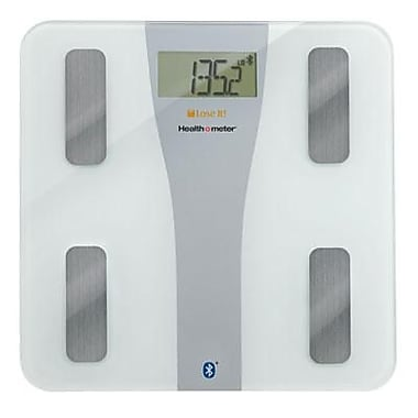 Jarden Health o meter® BFM147DQ01 Lose It!® Wireless Body Fat Scale with Bluetooth, White, 400 lbs.