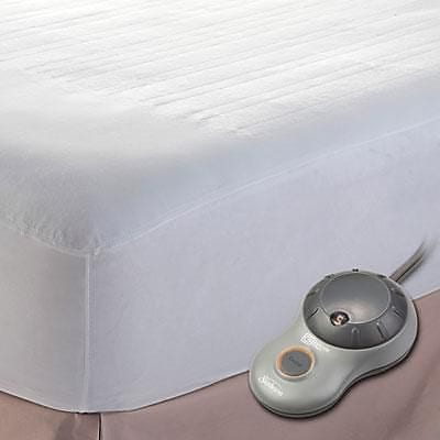 Jarden Sunbeam® Polyester Twin Electric Mattress Pad, White (MSU1GTSN00011A00)
