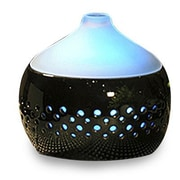 "Nesco® Spa Pro™ Unique Design Ceramic Diffuser, 5.1"" x 5.9"", Black (20039B)"