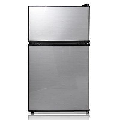 Midea HD113F Half Width Single Section Compact Refrigerator, Stainless Steel
