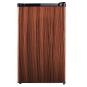 Midea HS160R Half/Full Width Single Section Compact Refrigerator, Black with Wood Finish