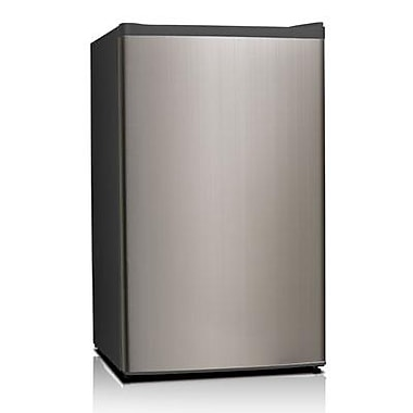 Midea HS121L Half/Full Width Single Section Compact Refrigerator, Stainless Steel