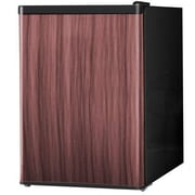 Midea HS87L Full Width Single Section Compact Refrigerator, Black with Wood Finish