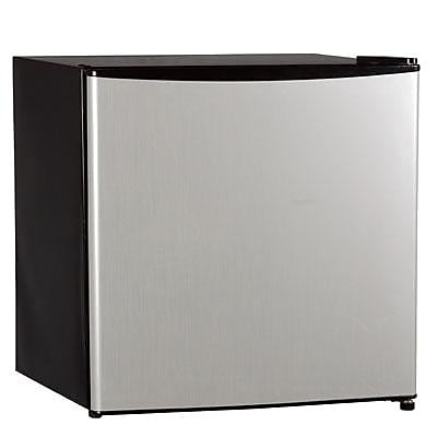 Midea HS65L Half Width Single Section Freestanding Refrigerator, Stainless Steel
