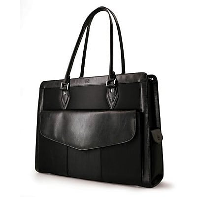Mobile Edge Geneva Black Microfiber Handbag for 17.3