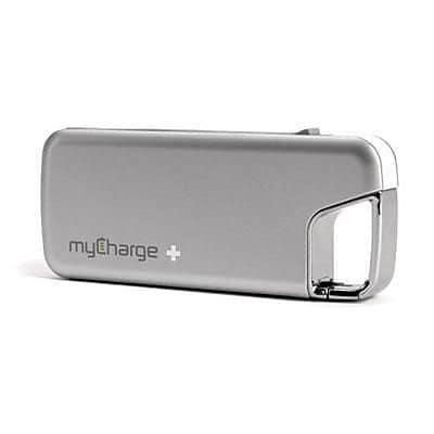myCharge® The Jolt 2000D 6000 mAh Portable Power Bank, Silver, Micro USB (RFAM0226)