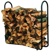 "Panacea™ Outdoor Log Rack, 44 1/2"" x 10 1/2"" x 41"", Black (15201)"