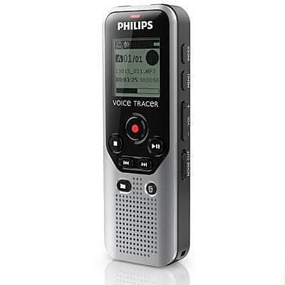 Philips DVT1200 Voice Tracer Digital Recorder, Dark Silver/Black