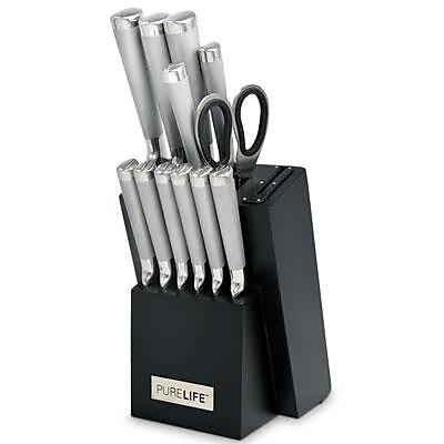 Ragalta™ PureLife™ 1.66 cu. ft. 13-Piece Forged Cutlery Knife Block Set, Black (PLKS-2222)