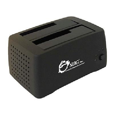 SIIG® Cool Dual SATA II To USB 2.0 External Docking Station, Black