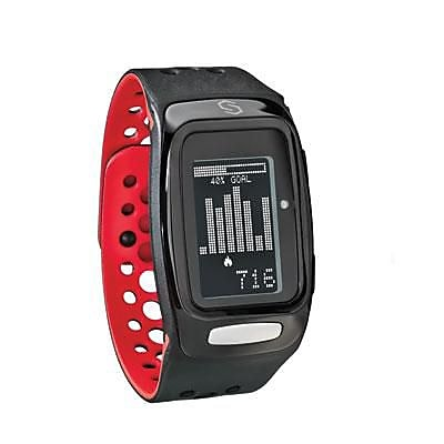 Sportline Sync Burn Band Watch, Black/Red (SP2227RE)