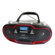 Supersonic® SC-745 Portable Audio System with USB, Red