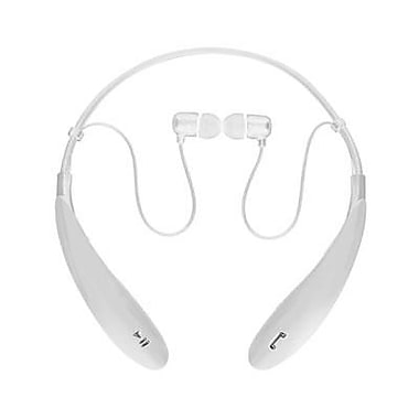 Supersonic® IQ127BT Stereo Bluetooth Behind-the-Neck Headphones with Mic, White