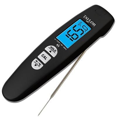 Taylor Connoisseur Turbo Read Digital Thermometer, Black (9867B)