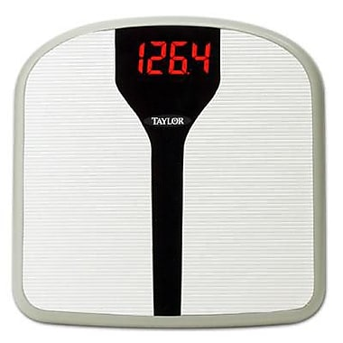 Taylor Superbrite™ 9857 LED Electronic Digital Bath Scale, Black, 330 lbs.