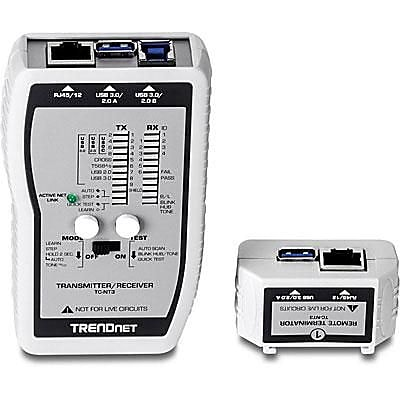 TRENDnet VDV and USB Cable Tester; White (TC-NT3)