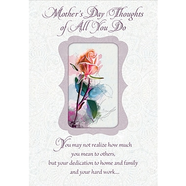 Millbrook Happy Mother's Day - Roses Greeting Card, 18/Pack, (23623)