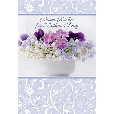 Millbrook Warm Wishes for Mother's Day Greeting Card, 18/Pack, (23580)