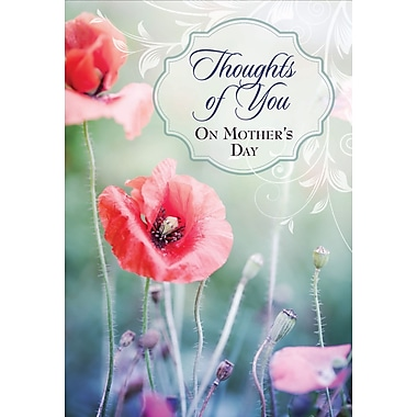 Millbrook Thoughts of You on Mother's Day Greeting Card, Poppies, 18/Pack, (23574)