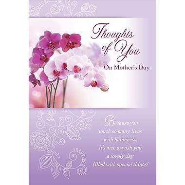 Millbrook Thoughts of You on Mother's Day Greeting Card, 18/Pack, (23573)