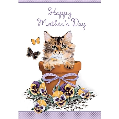 Millbrook Happy Mother's Day Greeting Card, Cat, 18/Pack, (23570)