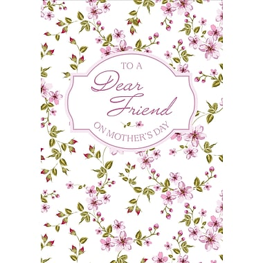 Millbrook To a Dear Friend on Mother's Day Greeting Card, 18/Pack, (23563)