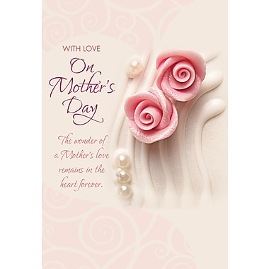 Millbrook With Love on Mother's Day Greeting Card, Two Roses, 18/Pack, (23547)