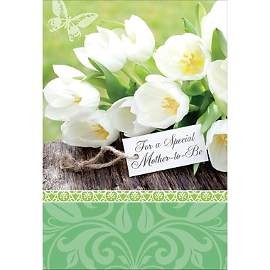 Rosedale Mother-to-Be Greeting Card, Tulips, 12/Pack, (39938)