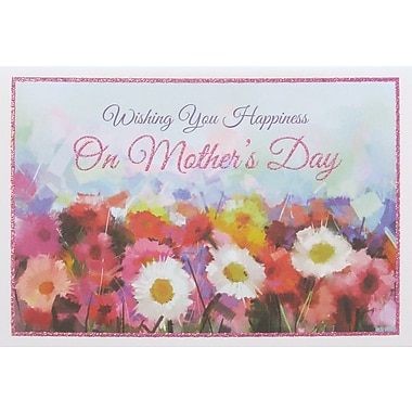 Rosedale Wishing You Happiness Greeting Card, 12/Pack, (39961)