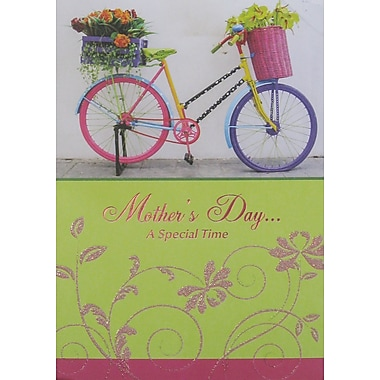 Rosedale Mother's Day... Greeting Card, Bicycle, 12/Pack, (39964)