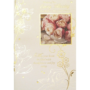 Rosedale Wishing You Every Blessing Greeting Card, 12/Pack, (39972)