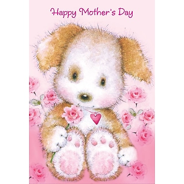 Rosedale Happy Mother's Day Greeting Card, Heart Bear, 12/Pack, (39980)