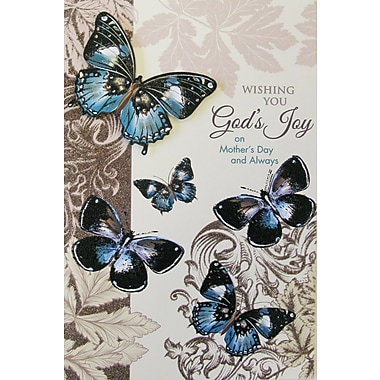 Rosedale Gold Wishing You God's Joy Greeting Card, 6/Pack, (40038)