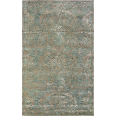 MOTI Rugs Broadway Hand-Tufted Green Area Rug; 8' x 11'