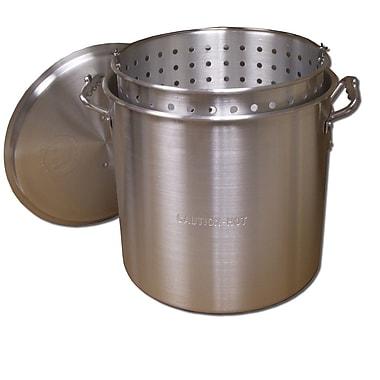 King Kooker King Kooker #KK32-32 Qt. Aluminum Pot w/ Basket and Lid