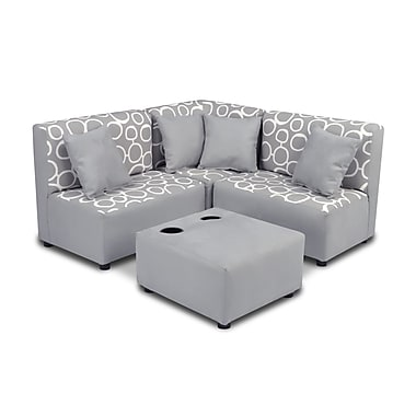 kangaroo trading company Kids Cotton Sectional and Ottoman w/ Cup Holder