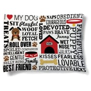 LauralHome Dog Words Fleece Dog Bed