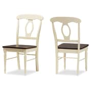 Wholesale Interiors Baxton Studio Solid Wood Dining Chair (Set of 2)