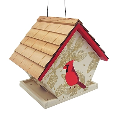 Home Bazaar Cardinal Decorative Hopper Bird Feeder (WYF078278727942) photo