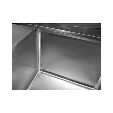 Advance Tabco Economy 84'' x 26'' Triple Fabricated Bowl Scullery Sink