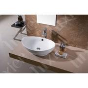 Luxier L-004 Bathroom Egg Porcelain Ceramic Oval Vessel Bathroom Sink w/ Overflow
