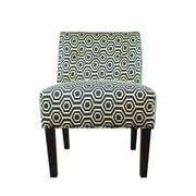 MJLFurniture Samantha Button Tufted Cott-Ashton Slipper Chair; Wedgewood