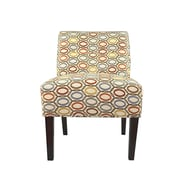 MJLFurniture Samantha Button Tufted Coll-Vera Parsons Chair; Harvest