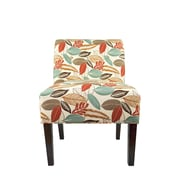 MJLFurniture Samantha Button Slipper chair; Coral