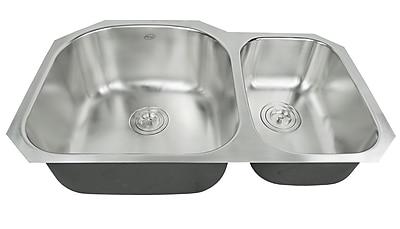 eModern Decor Ariel Pearl 31.15'' x 20.5'' Double Bowl Kitchen Sink