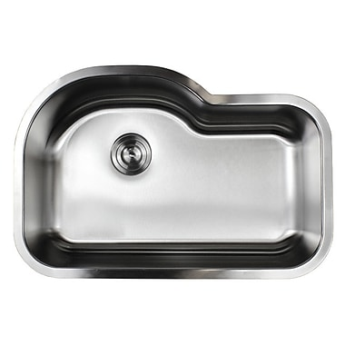 eModern Decor Ariel Pearl 31.5'' x 21.13'' Single Bowl Kitchen Sink