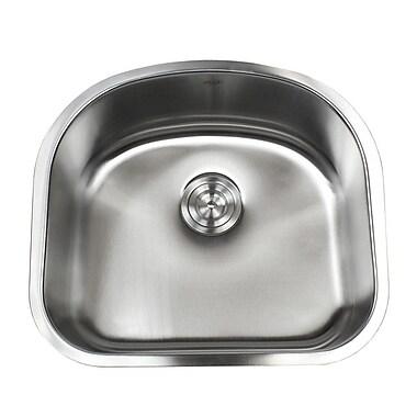 eModern Decor Ariel Pearl 23.25'' x 20.9 Double Bowl Kitchen Sink