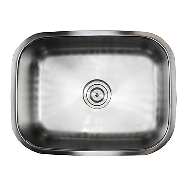 eModern Decor Ariel Pearl 23.38'' x 17.75'' Single Bowl Kitchen Sink